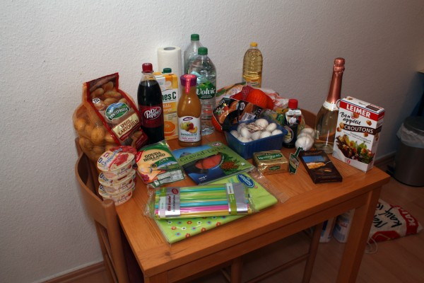 Продуктовая корзина немца, Новогодняя. Готовим Гуся.