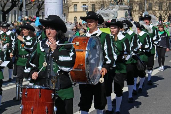 День святого Патрика в Мюнхене
