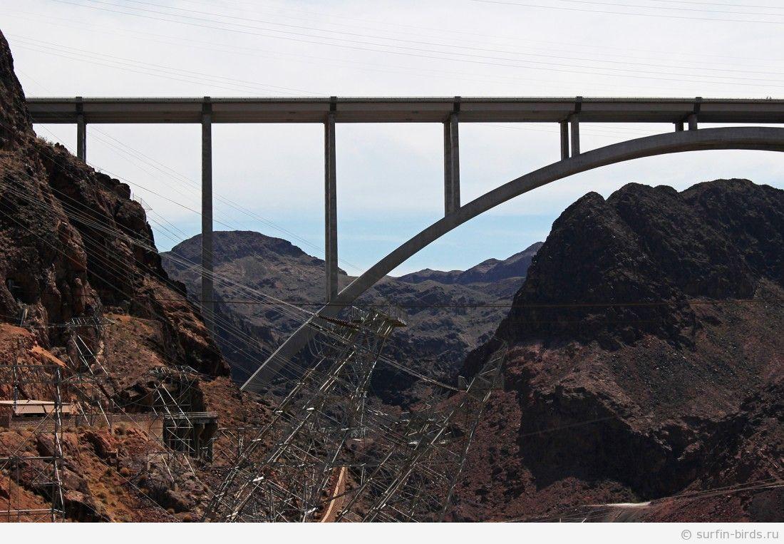 Едем обратно в Лас Вегас. Плотина Гувера, сдаем автомобиль. Часть 10