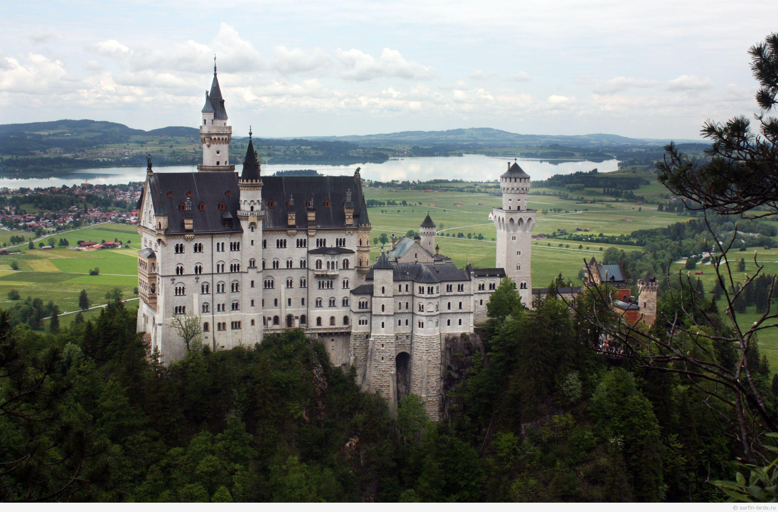 Schloß Neuschwanstein, замок Нойшванштайн