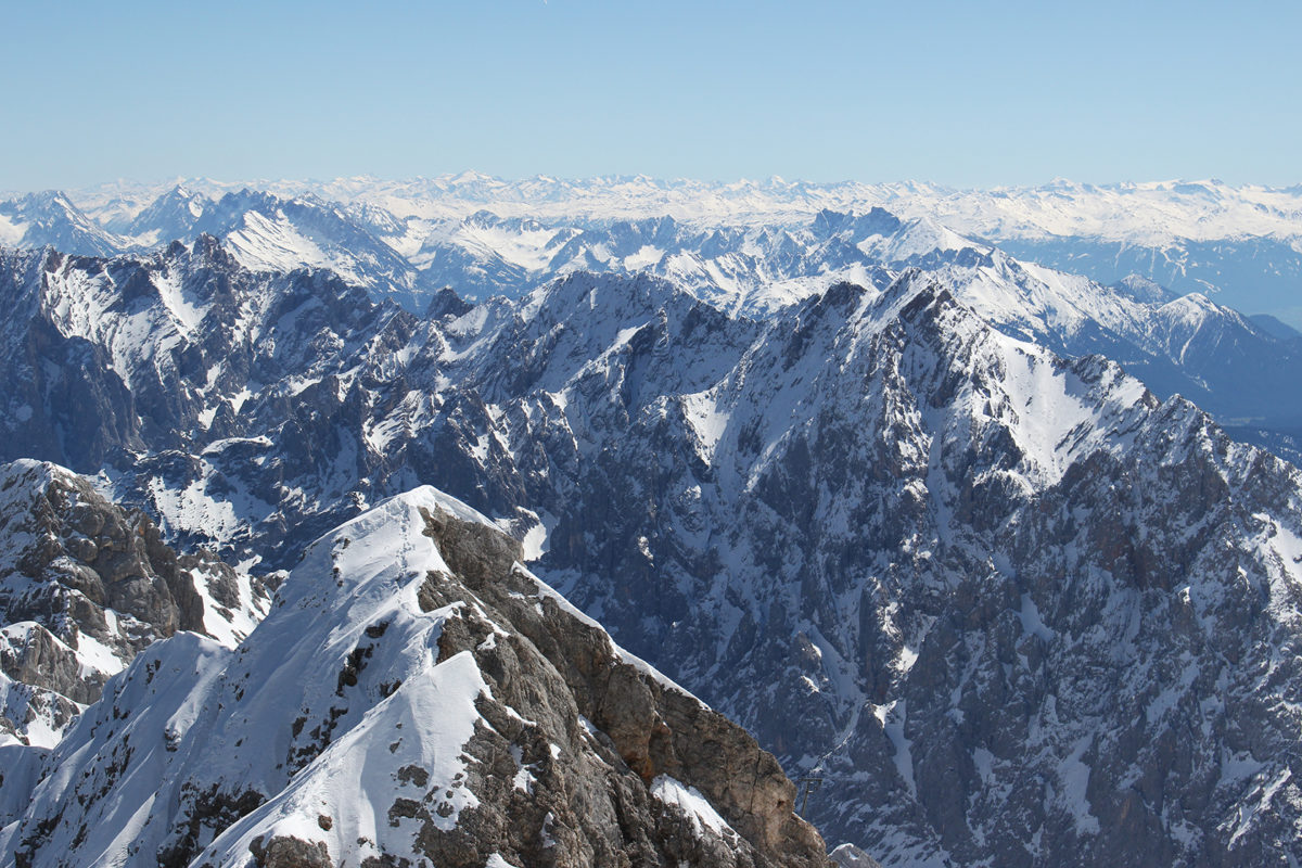 Вид с Цугшпитце / Zugspitze
